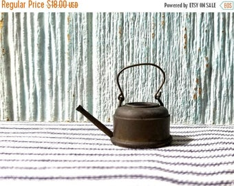 Yearly Big Sale: Vintage Dollhouse Miniature Bronze Kettle, Doll House Kitchen Cook Ware, Doll Kettle for Mini Kitchen, Antique Miniature Do