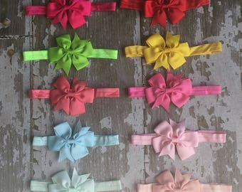 Little Girl Bow Headband  - Holiday Bow Headband - Bow Headband