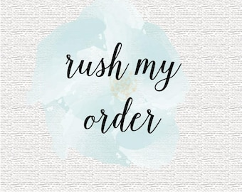 Rush Order - 1 to 3 business day processing plus 2-3 business day shipping time within the US