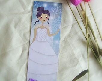 Snow Princess classic bookmark