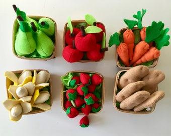 Felt Food Vegetables | Play Food | Felt Food | Play Pretend | Felt Food Toys | Play Kitchen Food | Montessori | Teacher Gift | Christmas