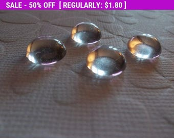 50% OFF Clearance SALE 10mm Round Clear Czech Crystal Cabochons - 10mm Transparent Glass Cabochons - Qty 9