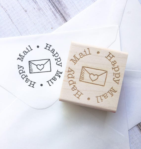 Happy Mail Rubber Stamp