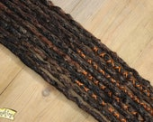 Woodland SE x10 Crochet Synthetic Dreads - reddy brown black