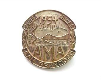 1954 American Medical Association Badge, San Francisco Convention