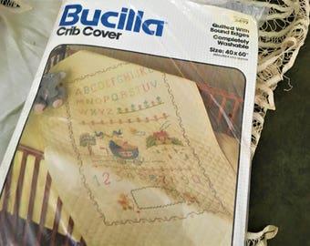 Bucilla Crib Cover Quilt Kit Unopened Complete