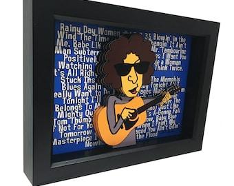 Bob Dylan Print Bob Dylan Poster Bob Dylan Art Bob Dylan 3D Art Like A Rolling Stone 1960s