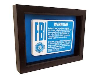 VHS Tape FBI Warning FBI Badge 3D Art Vhs Horror Art Vintage Horror Print Vhs Movies Vcr Tapes Pop Art Horror Artwork 1980s Art Man cave Art