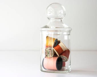 Vintage Modern Glass Lidded Storage Jar
