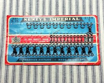Vintage Sewing Notions, Newey's Imperial Hook Fasteners & La Petite Wood Buttons, Vintage Clothing Repair