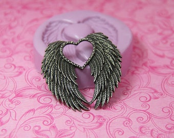 Silicone Wings Mold, Angel Wings, Chocolate Mold, Fondant, Polymer Clay, Resin Moulds, Soap Embed, Wax Wings Mold