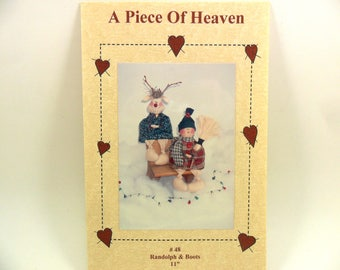 Snowman Reindeer Sewing Pattern Randolph and Boots #48 by A Piece of Heaven