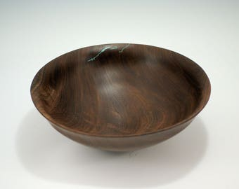 Wooden Salad Bowl Hand Made from Walnut, B2893