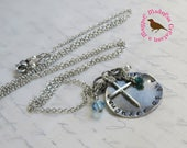 Custom Listing for Sarah, daughter of the King, Hand Stamped Pendant, Long Boho, by MagpieMadness for Etsy