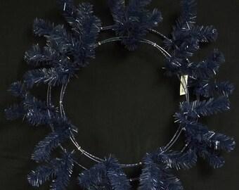 "10% OFF SALE 24"" Navy Blue Deco Mesh Wreath CVW190 , Poly Mesh Supplies"