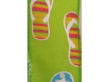 ON SALE 1.5 Inch Flip Flop Ribbon TR30909-09