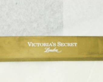 Victoria's Secret London Stockings Stretch Cantrece Off Black Long