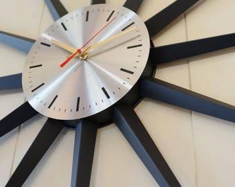 Mid Century Starburst Wall Clock Seth Thomas 1960s Starflower
