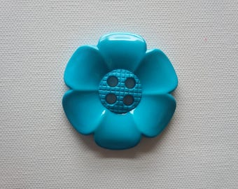 Extra Large Flower Button -Turquoise