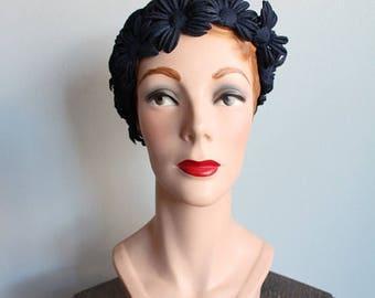 20% Off Sale // 1960s Hat // Daisy Cloche Hat // vintage 60s hat