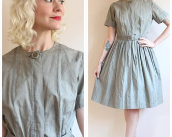 1950s Dress // Nelly Don Ivy Dress // vintage 50s dress