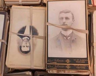 100 Antique CDV Photos / 1800s