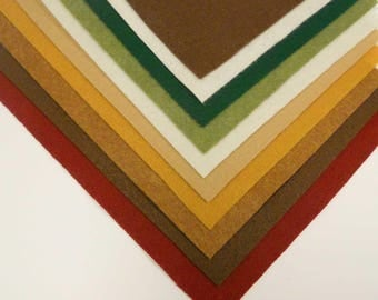 Kunin Felt Earth Tones - 10pcs of A4 Felt