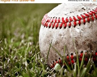 FLASH SALE til MIDNIGHT Baseball Close Up in the Grass Photo print, Boys Room decor, Boys Nursery Ideas, Sports art, Sport Prints, Man Cave