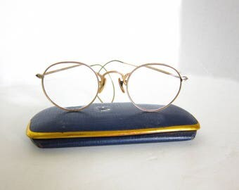 Antique Spectacles Eyeglasses Shuron Hibo Gold Filled B137