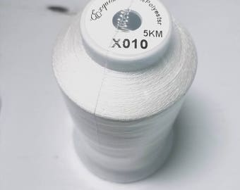 Exquisite Embroidery Thread Polyester Large 5,000 Meter Color x010