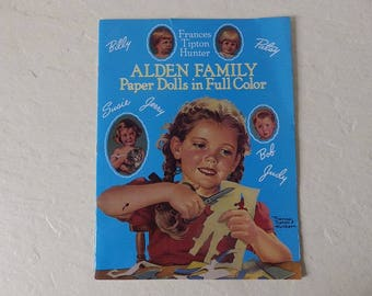 Alden Family Paper Dolls Booklet, Uncut, 1988