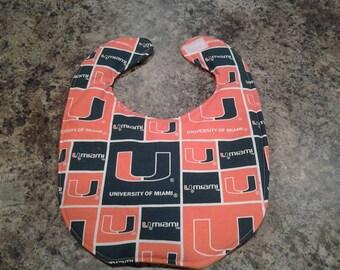 University of Miami Handmade Baby Bib