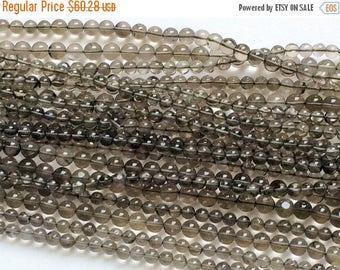 ON SALE 50% WHOLESALE 5 Strands Smoky Quartz Beads, Smoky Quartz Plain Round Balls, Smoky Quartz Necklace, 5mm, 13 Inch, 75 Pcs -  Rama87