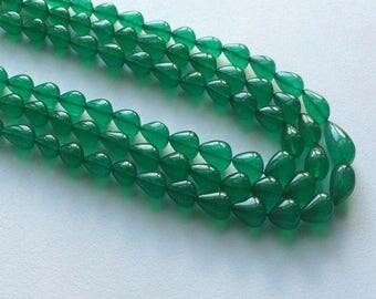 ON SALE 55% Green Hydro Beads - Plain Tear Drop, Emerald Green Hydro - Tear Drop Hydro,  10x8mm - 20x11mm, 15 Inch Strand