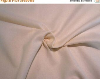 ON SALE Winter White Felted Pure Wool Flannel Jacketing Fabric --One Yard