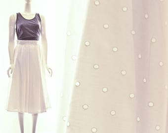 Vintage Brigitte Bardot Retro White Eyelet Full Skirt Retro Full White Cotton Skirt Pinup Full Skirt Small Extra Small