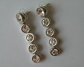 S.A.L Swarovski Austrian Crystal drop, dangle earrings. For pierced ears.