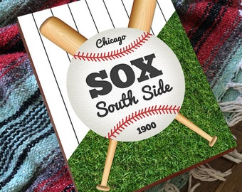South Side Chicago - South Side Sox - White Sox Art - White Sox Wall Art - White Sox Wood Sign - White Sox Wood Art