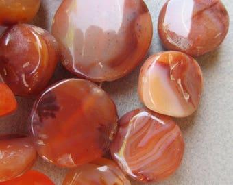 African Carnelian Stone Beads