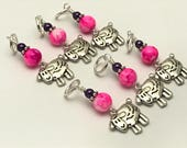 Sheep Stitch Marker Set- Snag Free Knitting Markers- Gift for Knitters- 7 Color Choices