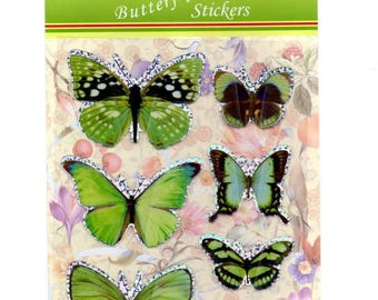 Green butterflies for your cards or scrapbooking decorations