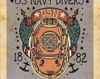 US Navy Diver Print