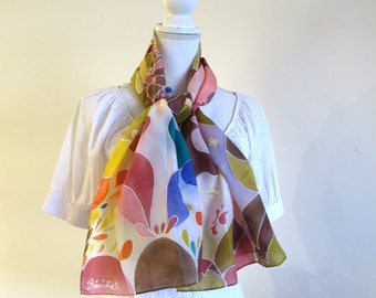 Hand made silk scarf