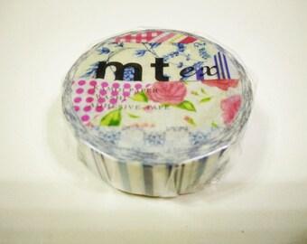 MT Tape ~ Flower Dark Blue