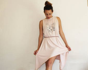 Summer dress // cat print dress