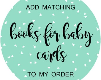 Matching Books for Baby Inserts, Baby Shower Book Request Card, Bring a Book Instead of a Card, Made to Match