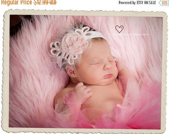 12% off Newborn headbands Baby headband Adult headband Child headband Baby hairbow Photo prop Preemie headband Teen headband hair clip Baby