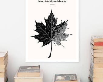 JOHN KEATS Literary Art Prints, Minimalist Poster, Large Wall Art Print,  Quote Posters, Literary Gifts, Book Lover Gift for English Major