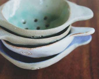 Stoneware Celadon Tea Strainer