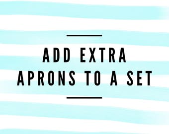 Add extra aprons to a set